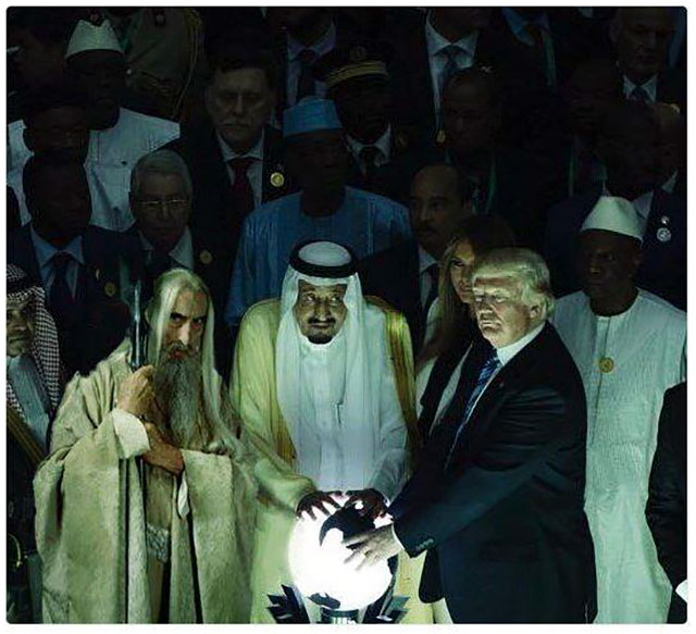 Trump, the Saudi's, the Glowing Orb and Saruman - Priceless ...