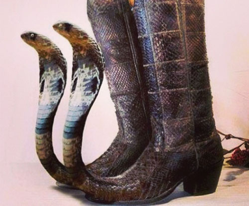 Mexican long toe boots