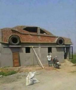 Hispanica_Adobe_Car_House