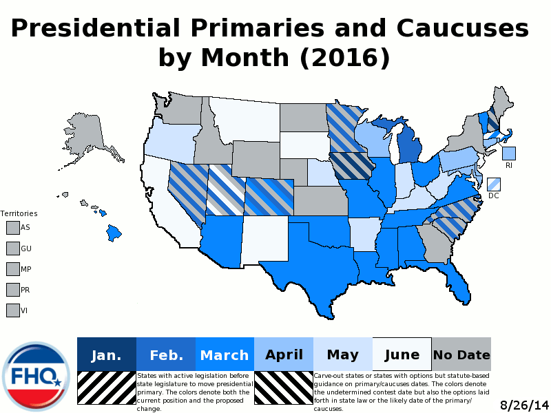 presidential primary map by month
