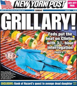 Hillary_Grilled_NYPost_FrontPage