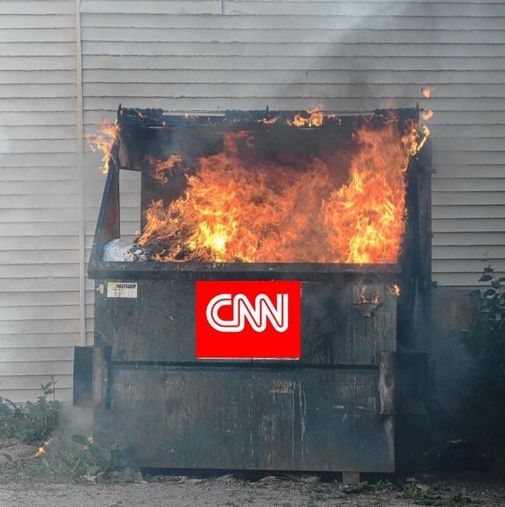 Image result for cnn DUMPSTER FIRE