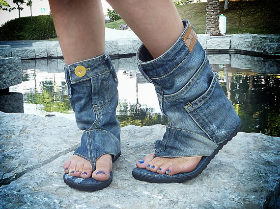 design professionale diventa nuovo autentico Redneck Cowboy Boot Sandals - ThePublicEditor.com