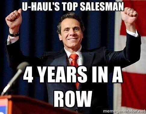"New York Governor Cuomo's New Campaign Slogan, ""America Sucks ..."