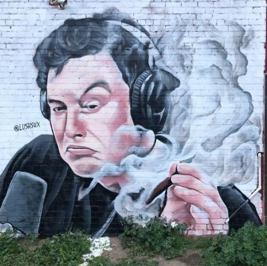 StreetArt_Elon_Musk_Up_In_Smoke