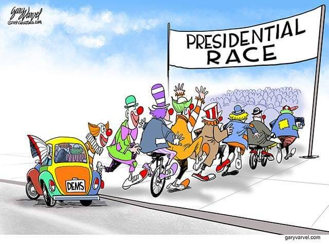 Image result for democratic clown car 2020