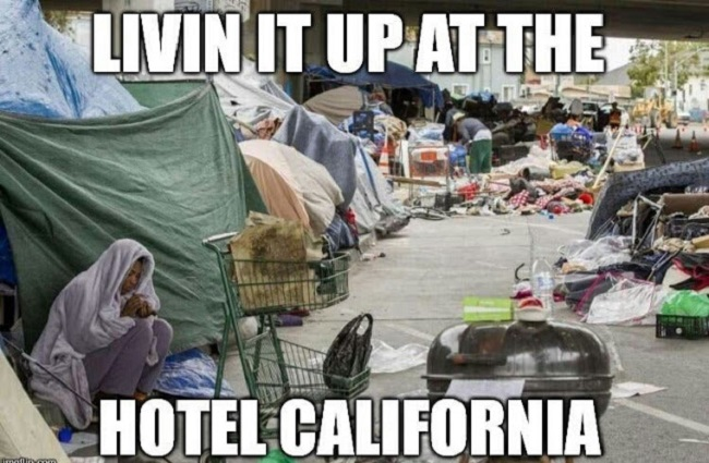 Image result for los angeles is a shithole dump